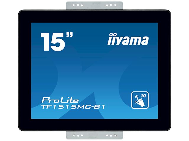 "iiyama Prolite monitor TF1515MC-B1 15"" Black, 1024 x 768 resolution, Projective Capacitive 10pt Touch, Mounting brackets included image 6"