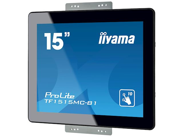 "iiyama Prolite monitor TF1515MC-B1 15"" Black, 1024 x 768 resolution, Projective Capacitive 10pt Touch, Mounting brackets included image 8"