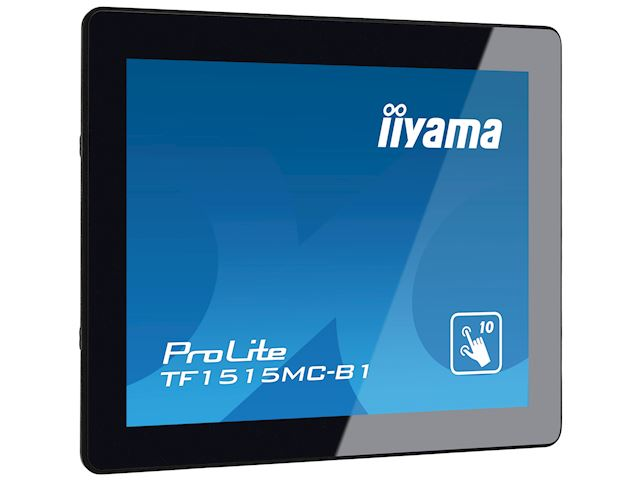 "iiyama Prolite monitor TF1515MC-B1 15"" Black, 1024 x 768 resolution, Projective Capacitive 10pt Touch, Mounting brackets included image 2"