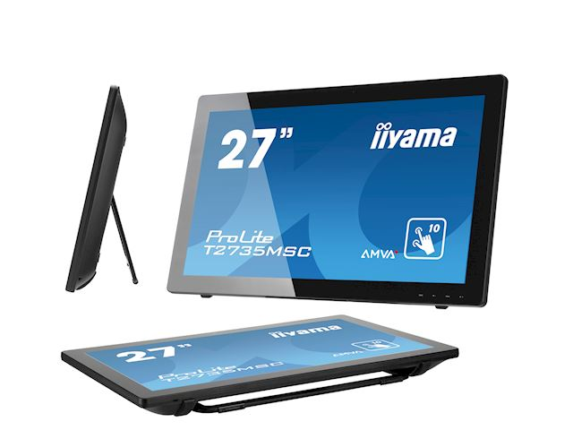 "iiyama ProLite monitor T2735MSC-B2  27"" Black, AMVA+, Full HD, Projective Capacitive 10pt touch, HDMI, USB Hub, Webcam image 8"