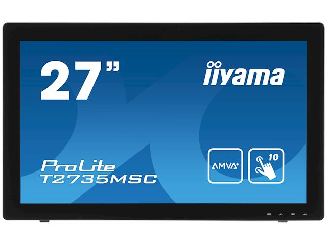 "iiyama ProLite monitor T2735MSC-B2  27"" Black, AMVA+, Full HD, Projective Capacitive 10pt touch, HDMI, USB Hub, Webcam image 0"