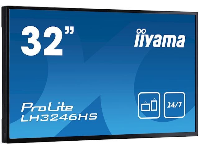 "iiyama ProLite LH3246HS-B1 32"", IPS, Full HD, 24/7 Hours Operation, HDMI, DisplayPort, Daisy Chain function, 10w Speakers, Landscape image 2"