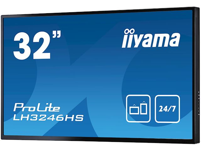 "iiyama ProLite LH3246HS-B1 32"", IPS, Full HD, 24/7 Hours Operation, HDMI, DisplayPort, Daisy Chain function, 10w Speakers, Landscape image 5"