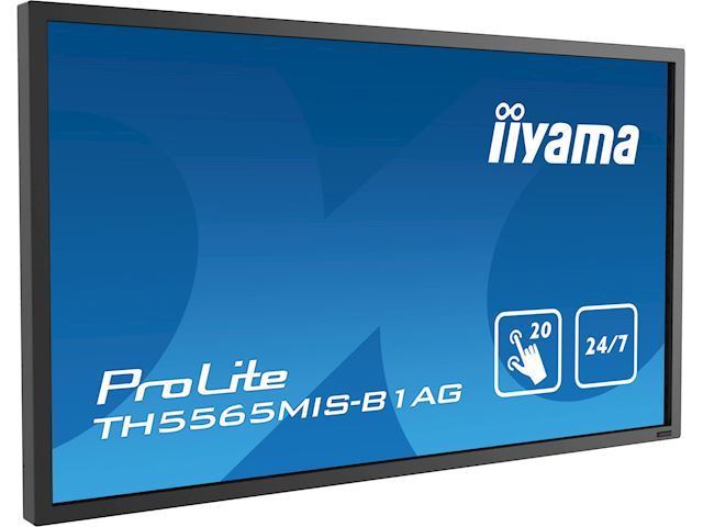 "iiyama ProLite TH5565MIS-B1AG 55"" Infrared 20pt touch, IPS, 24/7, Landscape/Portrait, Anti-glare, HDMI, Brightness sensor image 2"