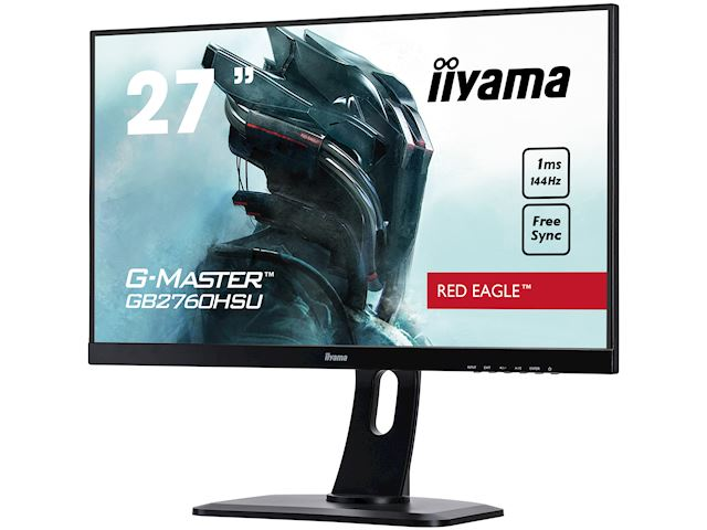 "iiyama G-Master Red Eagle gaming monitor GB2760HSU-B1 27"" Black, Full HD, 1ms, 144Hz, FreeSync, HDMI, Display Port, Height Adjustable image 4"