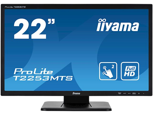 "iiyama ProLite monitor T2253MTS-B1 22"", Opitical 2pt touch, 2ms, HDMI, Glass front, 16:9 image 0"