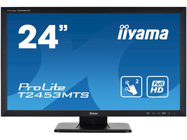 "iiyama ProLite monitor T2453MTS-B1 24"", VA, Optical 2pt touch, HDMI, Scratch resistive, Black, Glass front image 0"