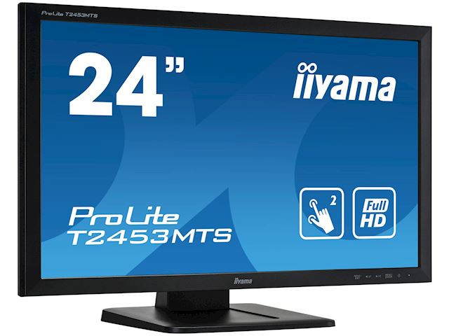 "iiyama ProLite monitor T2453MTS-B1 24"", VA, Optical 2pt touch, HDMI, Scratch resistive, Black, Glass front image 1"