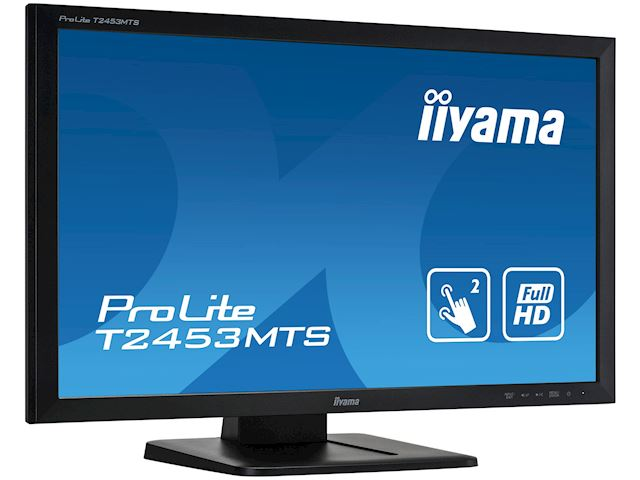 "iiyama ProLite monitor T2453MTS-B1 24"", VA, Optical 2pt touch, HDMI, Scratch resistive, Black, Glass front image 2"