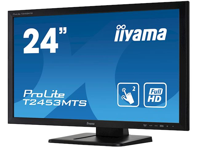 "iiyama ProLite monitor T2453MTS-B1 24"", VA, Optical 2pt touch, HDMI, Scratch resistive, Black, Glass front image 5"