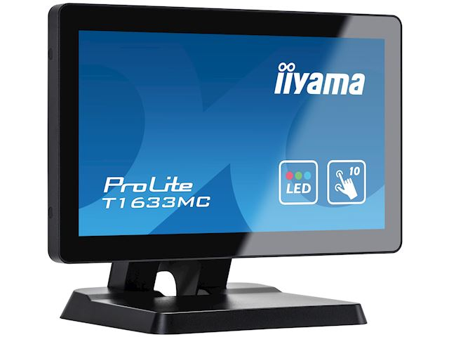 "iiyama ProLite T1633MC-B1 15.6"", Projective Capacitive 10pt touch, edge to edge glass, HDMI, DisplayPort, USB Hub, scratch resistant image 2"