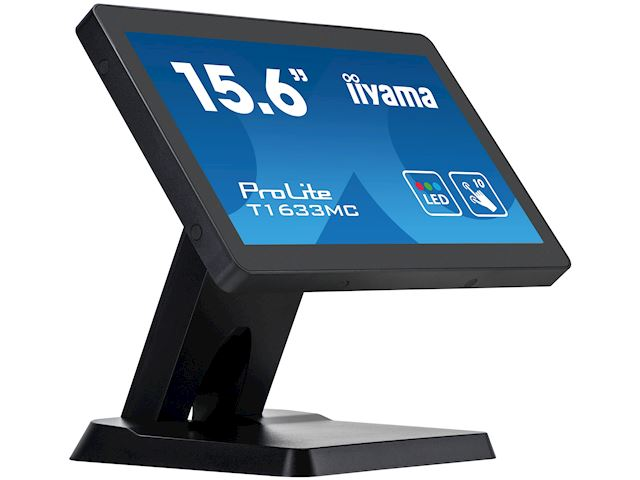 "iiyama ProLite T1633MC-B1 15.6"", Projective Capacitive 10pt touch, edge to edge glass, HDMI, DisplayPort, USB Hub, scratch resistant image 4"