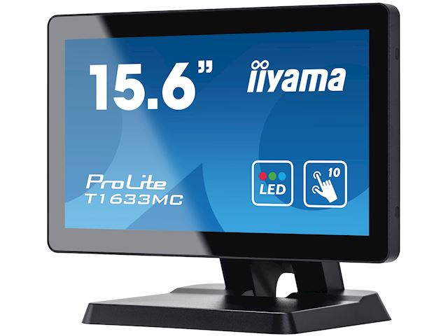 "iiyama ProLite T1633MC-B1 15.6"", Projective Capacitive 10pt touch, edge to edge glass, HDMI, DisplayPort, USB Hub, scratch resistant image 5"
