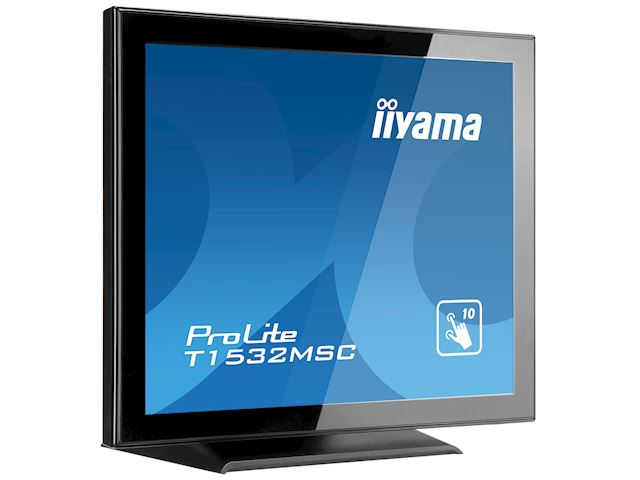 "iiyama ProLite T1532MSC-B5AG 15"", Black, Projective Capacitive 10pt touch, edge to edge glass, Anti-glare coating, scratch resistant, HDMI, DisplayPort  image 2"