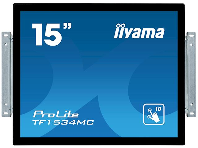 "iiyama ProLite TF1534MC-B6X 15"", Projective Capacitive 10pt touch, Open frame, Scratch resistant, Anti-fingerprint coating, 4:3, HDMI, DisplayPort image 0"