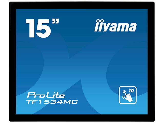 "iiyama ProLite TF1534MC-B6X 15"", Projective Capacitive 10pt touch, Open frame, Scratch resistant, Anti-fingerprint coating, 4:3, HDMI, DisplayPort image 9"