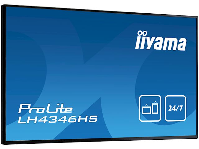 "iiyama ProLite LH4346HS-B1 42"", Black, IPS, Slim Bezel, HDMI, DisplayPort, Full HD, 24/7, Landscape, Daisy Chain function, PiP, Media Player image 3"