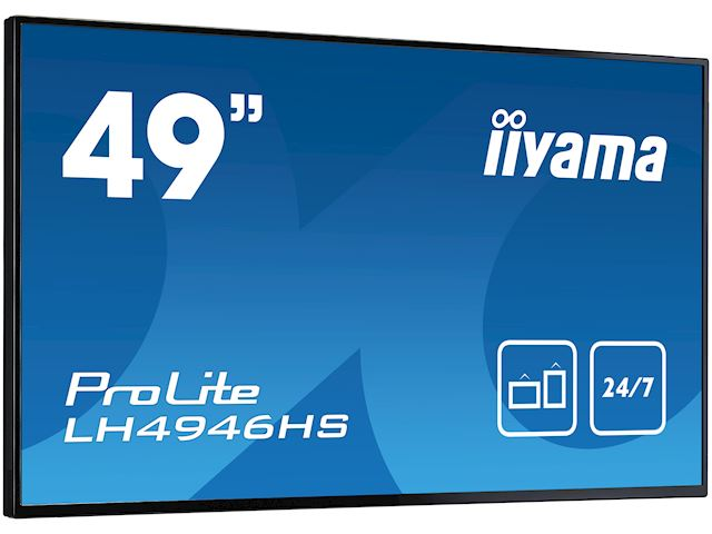 "iiyama ProLite LH4946HS-B1 49"", Black, IPS, HDMI, DisplayPort, 24/7, Daisy Chain function, Landscape, Thin Bezel, Full HD image 2"