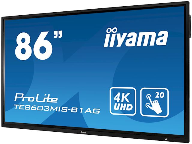 "iiyama ProLite TE8603MIS-B1AG 86"", 4k UHD, Infrared 20pt touch, PC slot, 24/7, IPS, Anti-glare coating, HDMI, DisplayPort, 32gb Internal memory image 4"