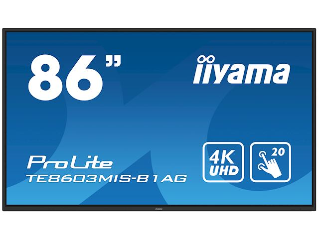 "iiyama ProLite TE8603MIS-B1AG 86"", 4k UHD, Infrared 20pt touch, PC slot, 24/7, IPS, Anti-glare coating, HDMI, DisplayPort, 32gb Internal memory image 21"