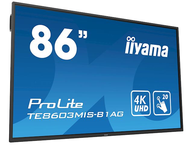 "iiyama ProLite TE8603MIS-B1AG 86"", 4k UHD, Infrared 20pt touch, PC slot, 24/7, IPS, Anti-glare coating, HDMI, DisplayPort, 32gb Internal memory image 22"