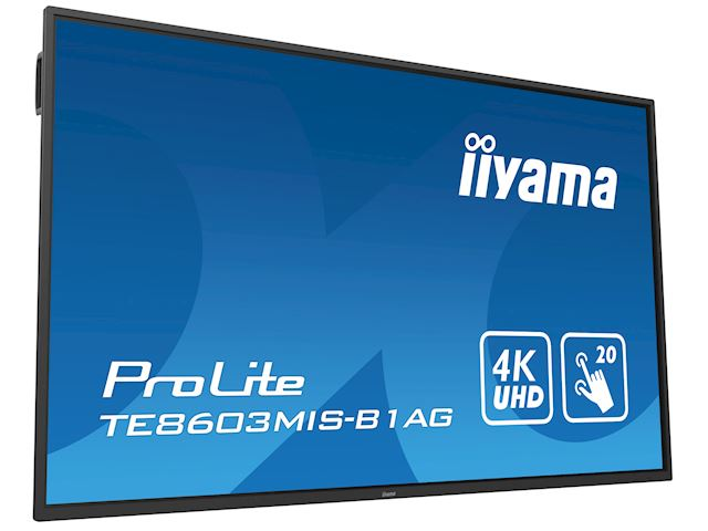 "iiyama ProLite TE8603MIS-B1AG 86"", 4k UHD, Infrared 20pt touch, PC slot, 24/7, IPS, Anti-glare coating, HDMI, DisplayPort, 32gb Internal memory image 23"
