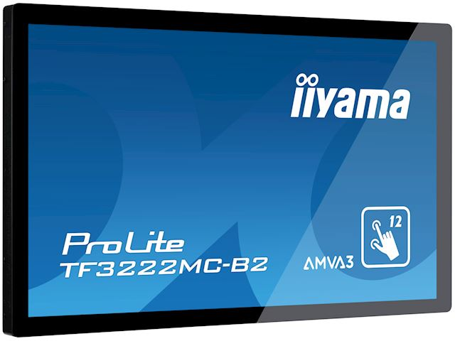 "iiyama ProLite monitor TF3222MC-B2 32"", Projective Capacitive 12pt touch, Open frame, Scratch resistant, AMVA3, VGA, DVI, 20/7, Slim bezel image 2"