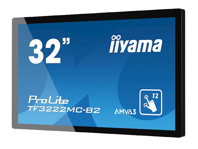 "iiyama ProLite monitor TF3222MC-B2 32"", Projective Capacitive 12pt touch, Open frame, Scratch resistant, AMVA3, VGA, DVI, 20/7, Slim bezel image 3"