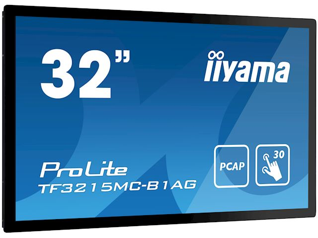 "iiyama ProLite TF3215MC-B1AG 31.5"", AMVA3, Full HD, Open Frame, Projective Capacitive, 30pt touch screen, AG coating, VGA/HDMI image 1"