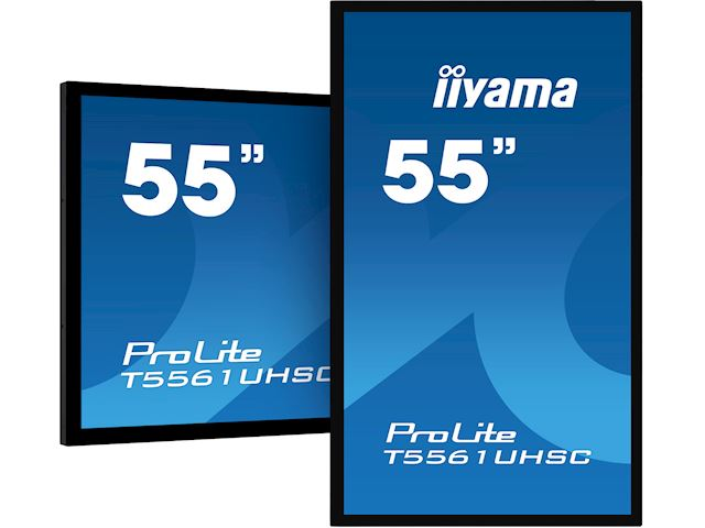 "iiyama ProLite T5561UHSC-B1 55"", Projective Capacitive 40pt Touch, 4K Edge to Edge IPS Touch Screen image 1"