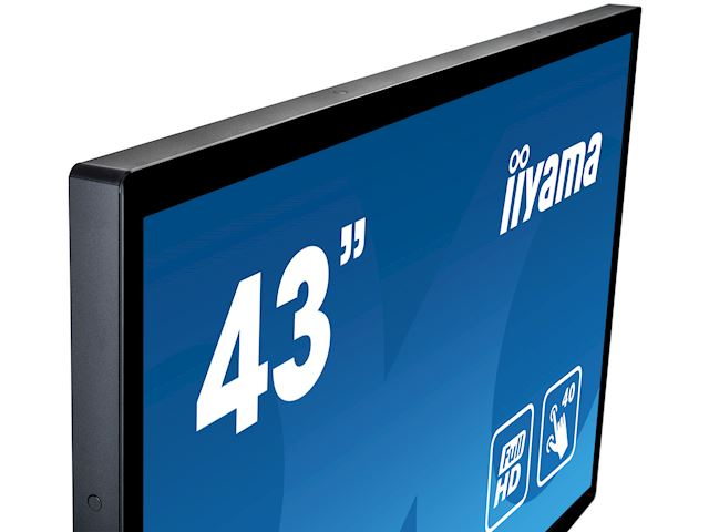 "iiyama ProLite monitor T4361MSC-B1 43"" Projective Capacitive 40pt touch, edge to edge touch screen image 2"