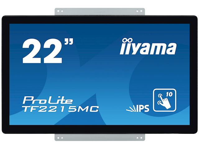 "iiyama Prolite TF2215MC-B2 22"" Black, Full HD, Projective Capacitive 10pt Touch, IPS Touch screen image 2"