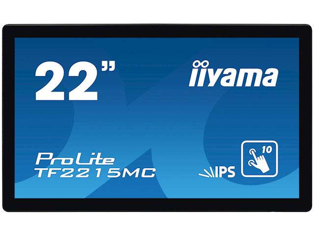 "iiyama Prolite TF2215MC-B2 22"" Black, Full HD, Projective Capacitive 10pt Touch, IPS Touch screen image 0"