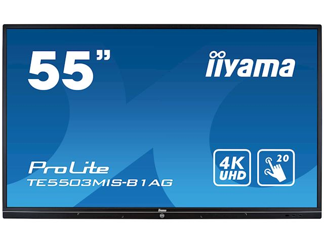iiyama ProLite TE5503MIS-B1AG 55'' Interactive 4K UHD LCD Touchscreen with integrated annotation software  image 0