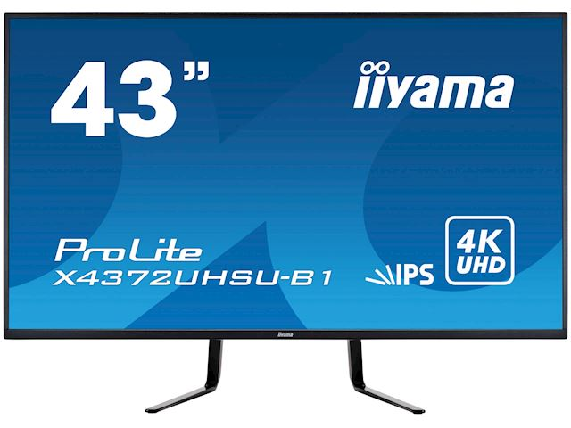 iiyama Prolite monitor X4372UHSU-B1 IPS LED, UHD, Picture-by-Picture, Dual DisplayPort, USB image 0