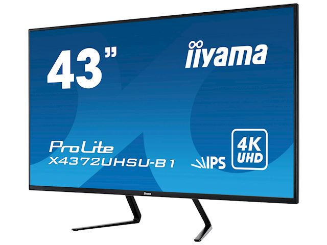 iiyama Prolite monitor X4372UHSU-B1 IPS LED, UHD, Picture-by-Picture, Dual DisplayPort, USB image 3