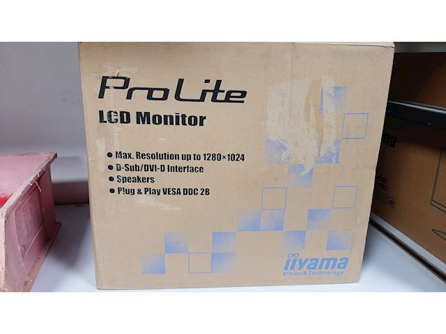 "Box damaged - iiyama ProLite monitor E1980SD-B1 19"" 5:4 Black, VGA, DVI image 0"