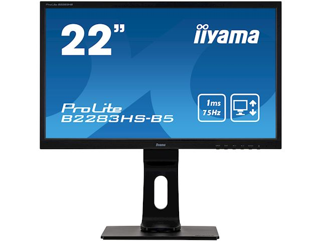"iiyama ProLite monitor B2283HS-B5 22"" Full HD Black, HDMI, Height Adjustable image 0"