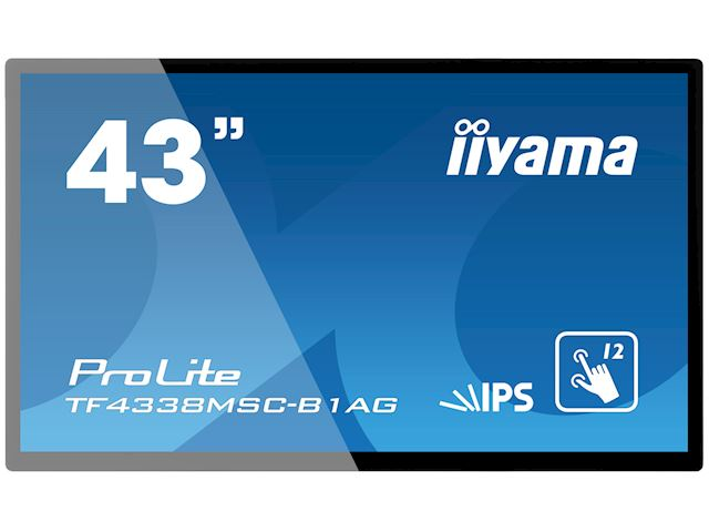 "iiyama Prolite TF4338MSC-B1AG 43"" Black, IPS, Anti Glare, Full HD,  Projective Capacitive 12pt Touch, 24/7, Landscape/Portrait/Face-up, Open Frame, IPX1 rated image 0"
