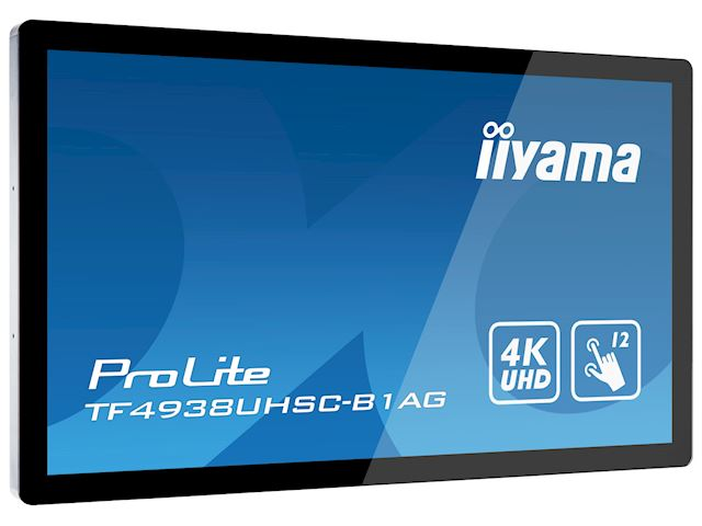 "iiyama Prolite TF4938UHSC-B1AG 49""  Black, IPS, Anti Glare, 4K UHD,  Projective Capacitive 12pt Touch, 24/7, Landscape/Portrait/Face-up, Open Frame, IPX1 rated image 3"
