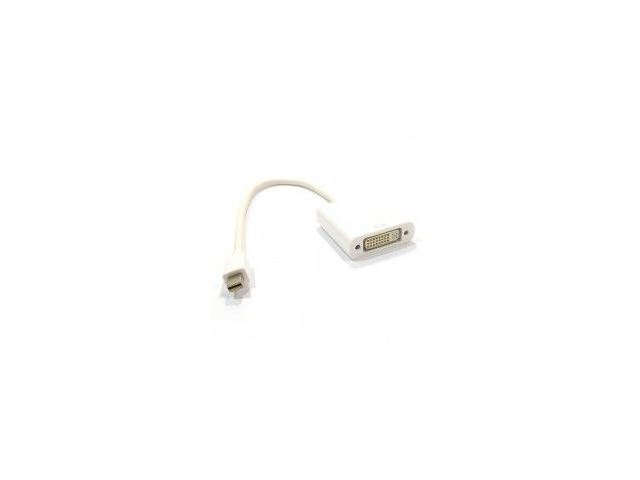 HDMINIDP-DVI015 Mini Display Port Plug to DVI-D Female Socket Adapter Cable 15cm, White image 1