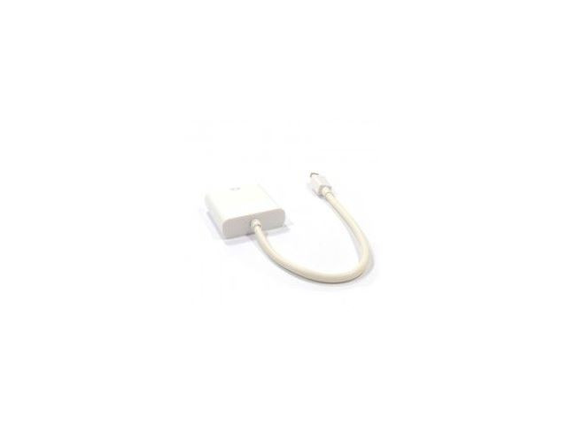 HDMINIDP-DVI015 Mini Display Port Plug to DVI-D Female Socket Adapter Cable 15cm, White image 2