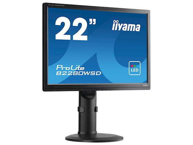"iiyama ProLite monitor B2280WSD-B1 22"" 1680x1050, Black, Height Adjustable image 5"