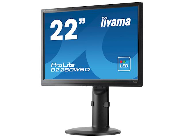 "iiyama ProLite monitor B2280WSD-B1 22"" 1680x1050, Black, Height Adjustable image 6"