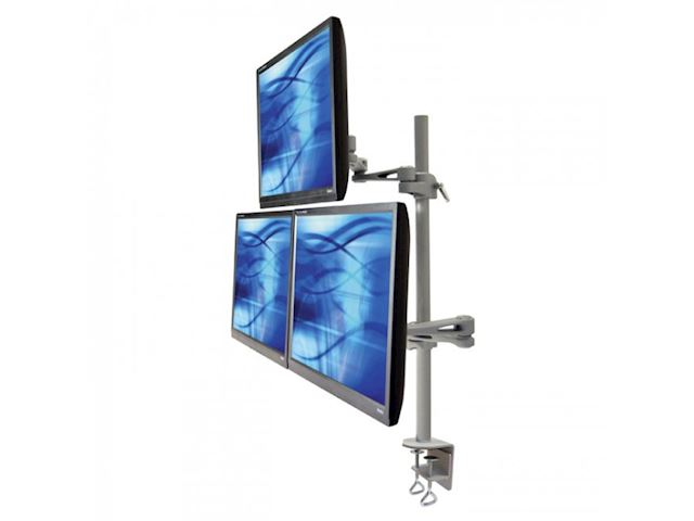 Ergomounts EMUV435DC UltraView 435 Triple Monitor Arm Desk Mount image 0
