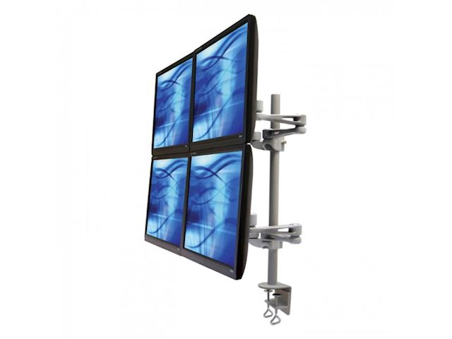 Ergomounts EMUV440DC UltraView 440 Quad Monitor Arm Desk Mount Clamp image 0