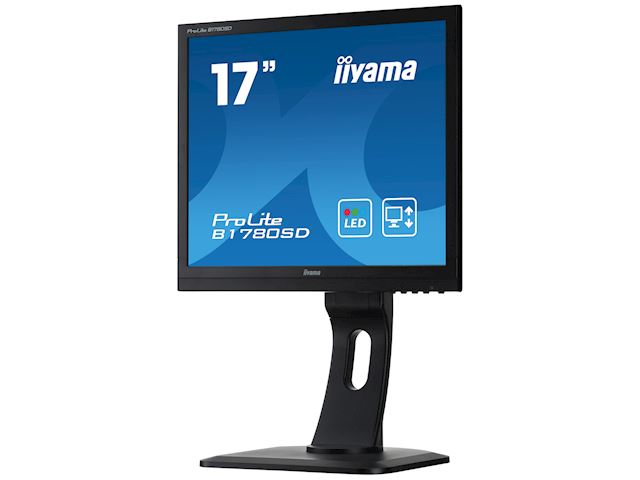 "iiyama ProLite monitor B1780SD-B1 17"" 5:4 Black, Height Adjustable, Black image 2"
