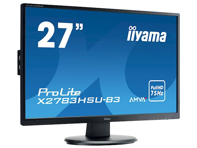 "iiyama ProLite monitor X2783HSU-B3 27"" AMVA+, Full HD, Black, HDMI, Display Port, USB Hub image 1"