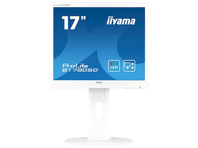 "iiyama ProLite B1780SD-W1 17"" 5:4 Black, Height Adjustable, White image 0"