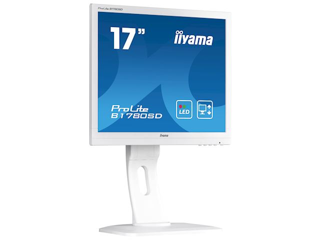 "iiyama ProLite B1780SD-W1 17"" 5:4 Black, Height Adjustable, White image 1"